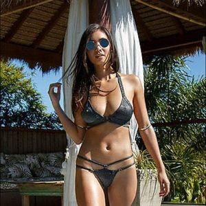 NWT Wicked Weasel lurexxx bikini size Medium-rare